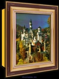 Объемный постер Замок Нойшванштайн